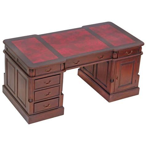 bureau de style bureau anglais 180 cm acajou sous bristol