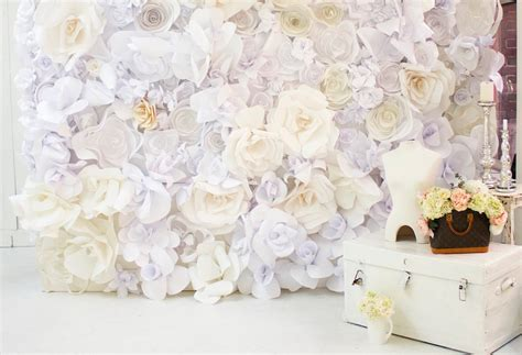 diy paper flowers wall backdrop   diyscom