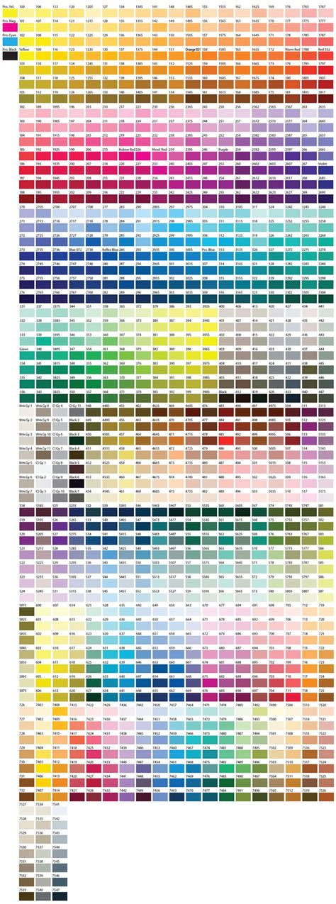 color chart color chart pantone pms not pms i take it this