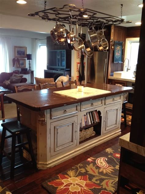 kitchen island with pot rack pot rack ideas also kitchen island with picture
