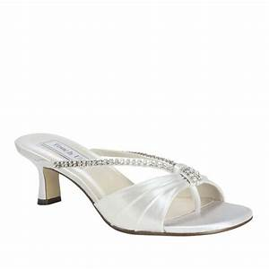 Wide width bridal wedding white satin jewel low heel sexy for Wide width dress shoes for wedding