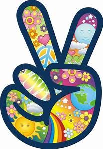 Peace Symbol Sign Flower Power Hippie Love Car Color Decal