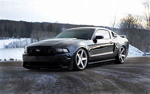 Black Ford Mustang front view wallpaper - Car wallpapers - #48954