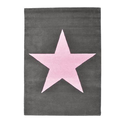 lorena canals teppich kinderteppich dunkelgrau mit rosa