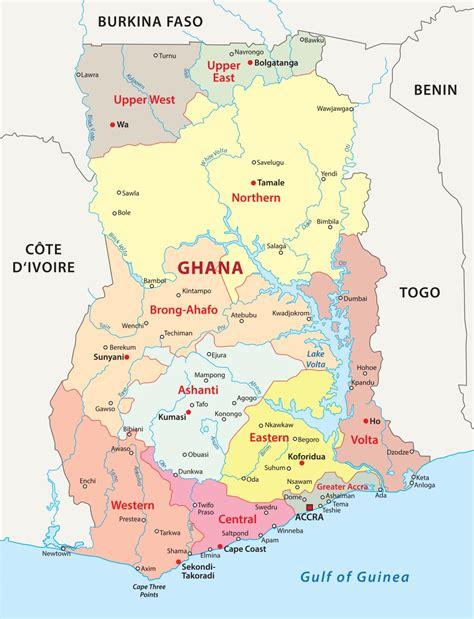 Political Map of Ghana · Ghana Quest