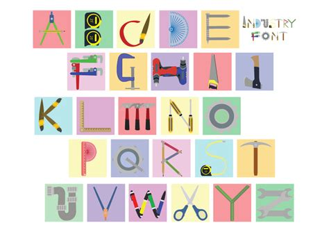 alphabet tools industry font by xojh on deviantart