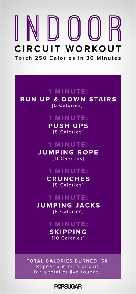 indoor circuit workout poster popsugar fitness