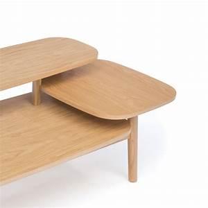 Table Basse En Bois : table basse en bois 3 plateaux eichberg ~ Teatrodelosmanantiales.com Idées de Décoration