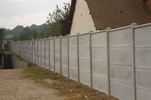 Mur En Béton : mur en plaques de b ton cl tures bataille ~ Melissatoandfro.com Idées de Décoration