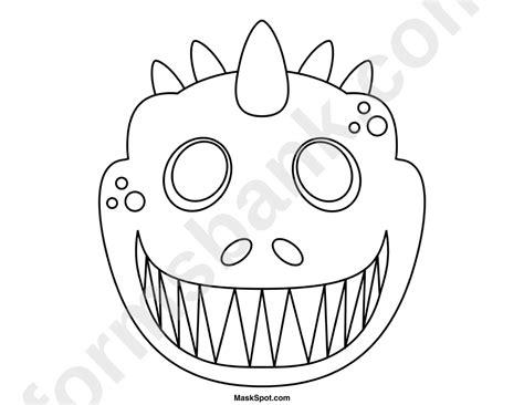 dinosaur mask template  color printable