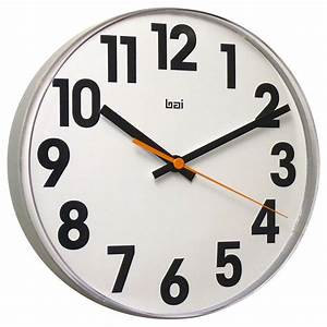 Large Numbers Lucite Wall Clock - Modern - Wall Clocks