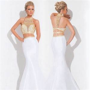 Two Piece White And Gold Prom Dress : A Wonderful Start ...