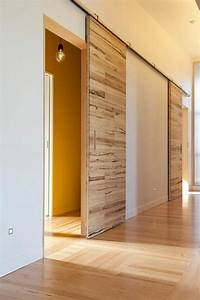 Decoration De Porte Interieur : d co salon porte coulissante en bois l 39 int rieur ~ Dailycaller-alerts.com Idées de Décoration