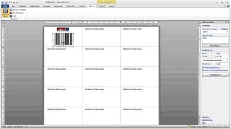 barcode etiketten  microsoft word erstellen youtube