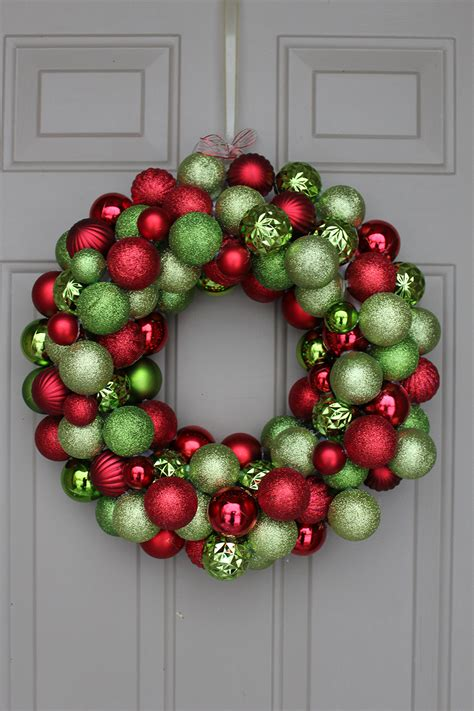 diy christmas wreaths with ball ornaments diy ornament wreath 30