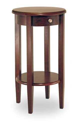 side table with drawer and shelf winsome wood round side table with drawer and shelf