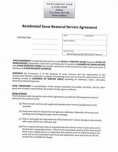 snow removal contract snow removal flyer templates snow With residential snow removal contract template