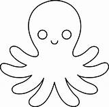 Octopus Coloring Clipart Template Giant sketch template