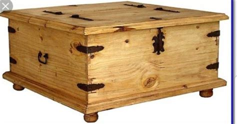 New Mexican Pine Coffee Table Trunk Double Storage For