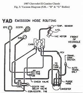 Maintenance repair questions looking for zct vacuum for Questions chevrolet el camino 1985 chevy el camino vacuum line diagram