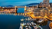 Wallpaper Vancouver, Granville, Island, Canada, night ...