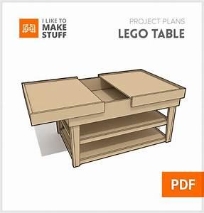 Lego build table - Digital Plan - I Like to Make Stuff