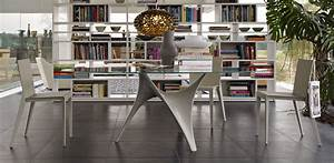 Modern Round Glass Dining Table Molteni Arc - StyleHomes net