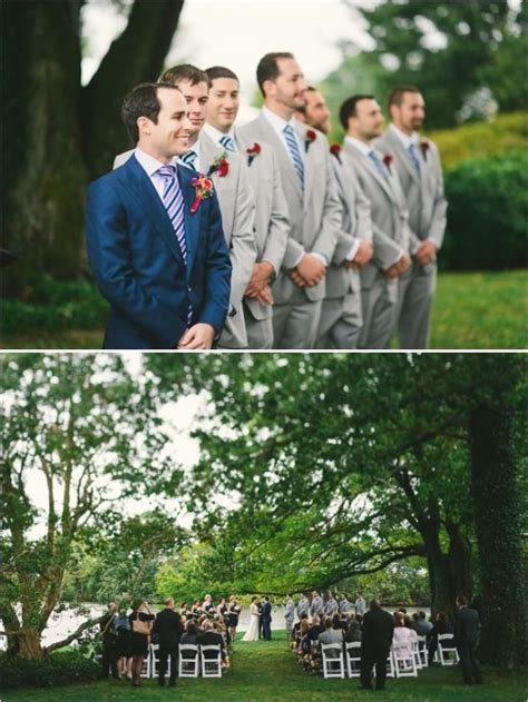 Summer Ceremony Historic Manor Outdoor Refined Wedding