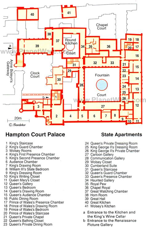 houses  state hampton court palace floor plans