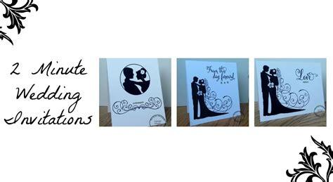 2 Minute Diy Handmade Wedding Invitations/save The Date