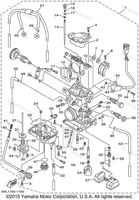 yamaha motorcycle 2001 oem parts diagram for carburetor partzilla com