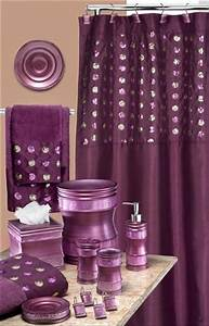 sequins purple shower curtain bathroom ideas pinterest With sequin bathroom sets