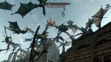 Skyrim  When 50 Dragons Attack  Hd1080p Youtube