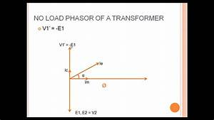 Transformer Phasor Diagram For No Load Condition