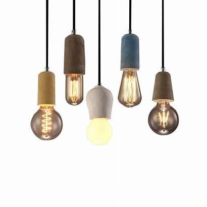 Concrete Pendant Lamp Hanging Holder Cement Lights
