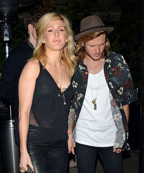 Ellie Goulding and Dougie Poynter at Chiltern Firehouse ...