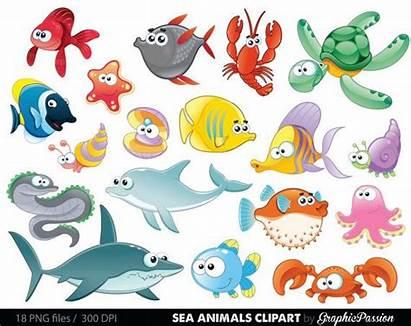 Sea Clipart Clip Animals Ocean Animal Creatures