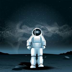 Astronaut on another planet Vector | Free Download