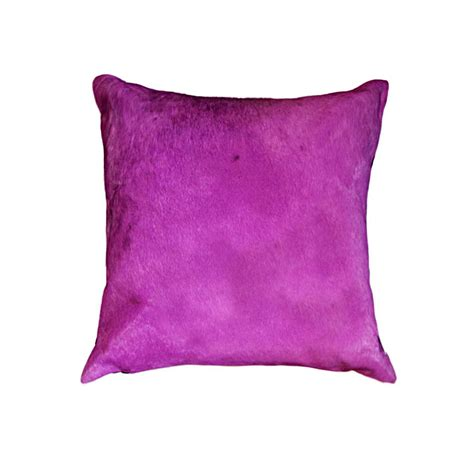 Torino Cowhide Pillow by Torino Fuschia 18 In X 18 In Cowhide Pillow 676685035431