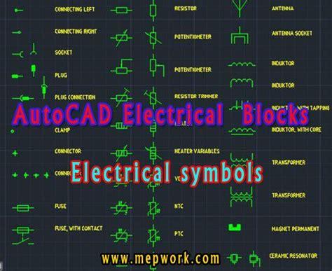 autocad electrical symbols blocks  dwg