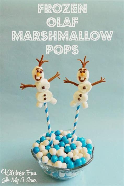easy olaf marshmallow pops   disney  frozen