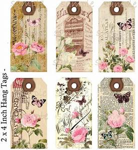 Instant Download Hang Tags Shabby Meets by CountryAtHeart2008