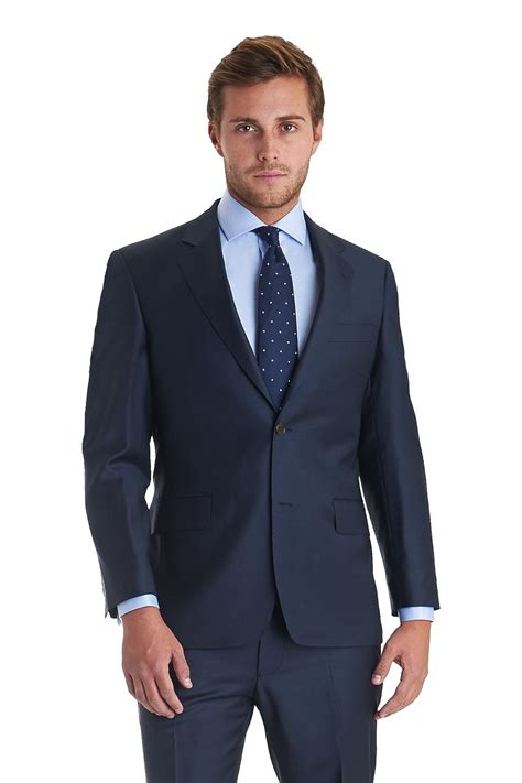 Institchu's navy suits are all made to measure and come completely customisable to your unique style. Zegna cloth regular fit plain suit navy with flat front ...