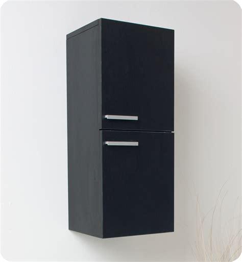 bathroom linen side cabinet 12 5 quot fresca fst8091bw black bathroom linen side cabinet