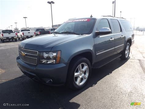 2010 blue granite metallic chevrolet suburban ltz 4x4