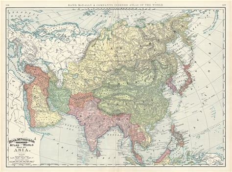 rand mcnally maps and directions map of asia geographicus antique maps