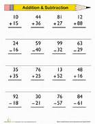 Double Digit Addition And Subtraction Worksheet Addition And Subtraction Worksheets New Calendar Subtraction 3 Kindergarten Subtraction Worksheets FREE Gallery For Addition And Subtraction Worksheets