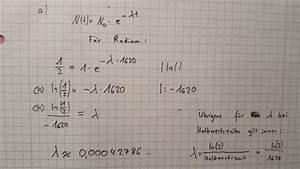 Radioaktiver Zerfall Berechnen : radioaktiver zerfall l sst sich durch die formel ~ Themetempest.com Abrechnung