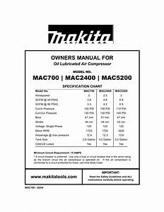 Makita Mac5200 Troubleshooting Guide