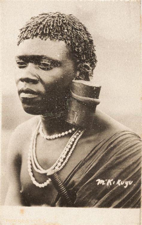 kikuyu  east africa postcards